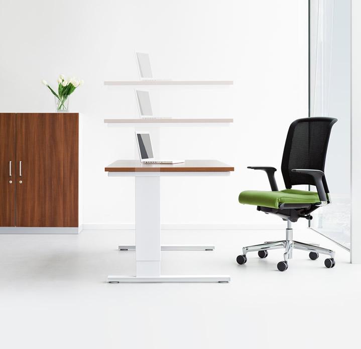 Höhenverstellbarer Schreibtisch: Eco n. Büromöbel und Büroeinrichtung
